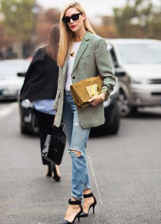 女人穿西装 凸显高雅摩登气质