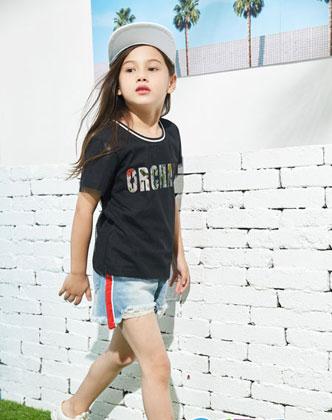 夏天女童T恤如何搭配才好看?泡泡噜T恤搭配推荐!