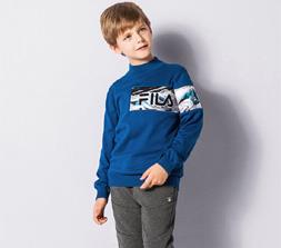FILA男童秋冬时尚穿搭 帅气保暖一步到位