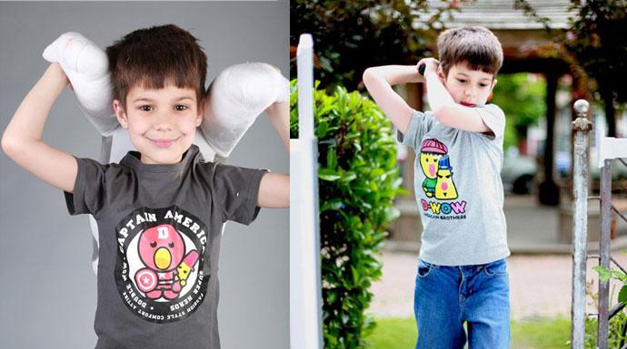 D-WOW童装街头风来袭 美国兄弟的舒适T恤