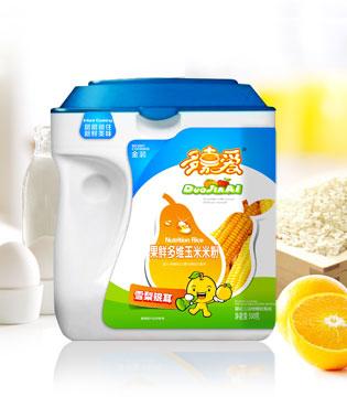多嘉爱辅食新系列 果鲜多维玉米米粉