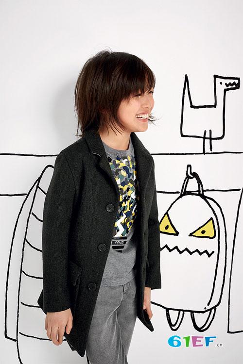 意大利潮牌 Fendi 2016年秋冬季 童装画册Lookbook