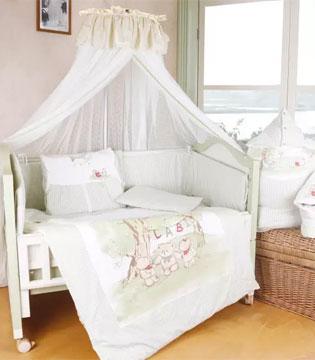 拉比格子用品床组被 摇曳着baby美丽温馨的童梦时光!