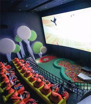 印尼打造了一家堪比游乐场的新式儿童影院
