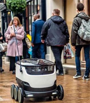 美国两城市 机器人今天正式开始送外卖