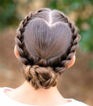 给宝贝来一个创意「心形」发型 让生活更有爱~