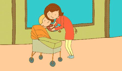 """新手妈咪们请注意,想练就贝嫂单手托举""""萌小七""""的绝技,首先需要通过抱"""
