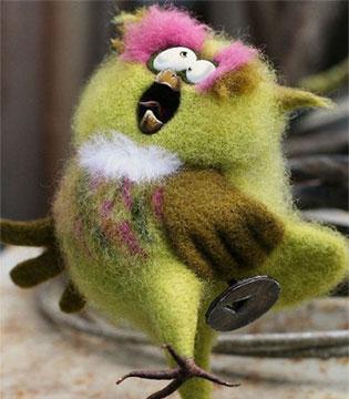 这些羊毛毡玩具简直萌到不行!