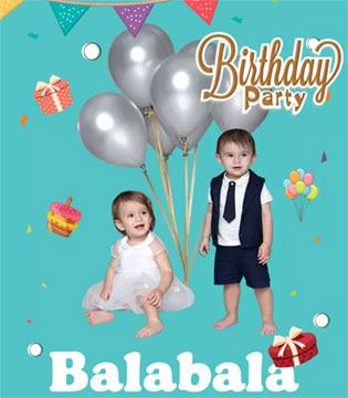 宝宝人生的第1次生日  穿上巴拉巴拉从此与众不同