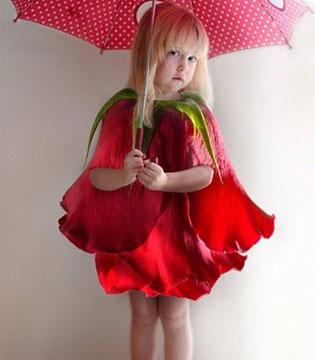美成花仙子 国外妈妈把裙子做成花儿
