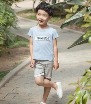 小男孩的夏天就是T恤+五分裤 E.D.A棉花驿站童装这就有