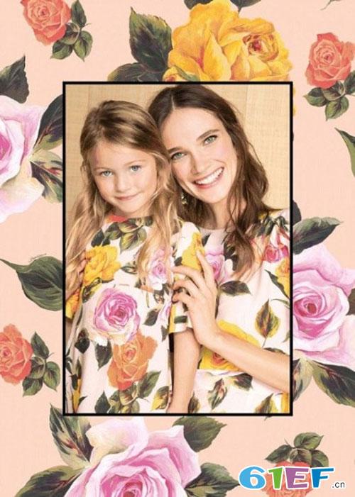 意大利大牌Dolce&Gabbana夏季复古印花系列亲子画册