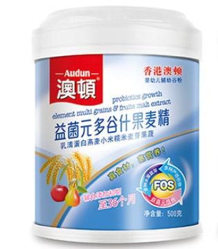 认准澳顿牌米精和麦精 多种营养配方 专为宝宝而生