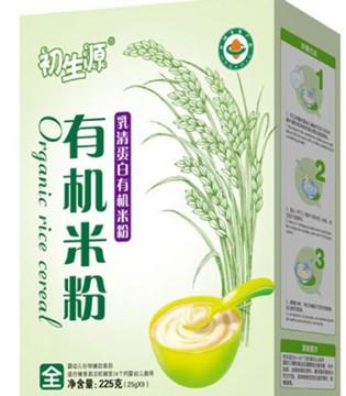 初生源有机米粉是给宝宝全面、健康、营养的辅食