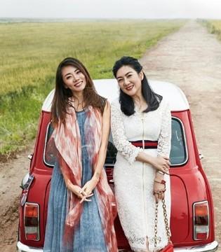 郑恺女友程晓�h与妈妈的时尚大片曝光 两人似姐妹