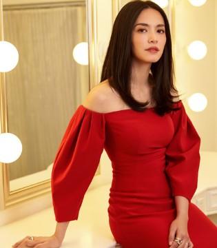 美就一个字  姚晨穿全红长裙美艳十足