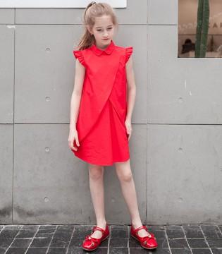 夏日最耀眼的一抹红 原来竟是那穿着1001夜童装的小女孩