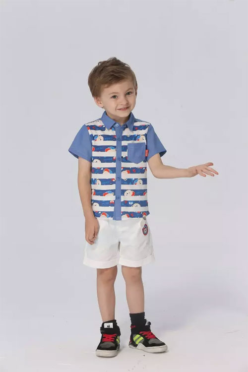 采童庄夏季男童裤子搭配 夏日的一缕清凉