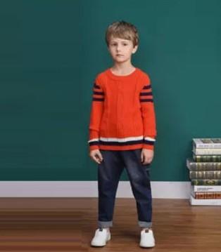 NICKIE尼克童装品牌的一件毛衫 穿出多种look