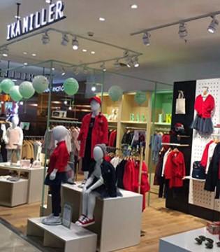 IKAMILLER艾卡米勒品牌童装强势入驻杭州临平银泰