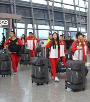 国家武术散打队今日离开西安出征喀山世锦赛
