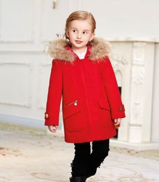 CARSAMONO卡莎梦露冬季新品童装 一抹红色迎接2018