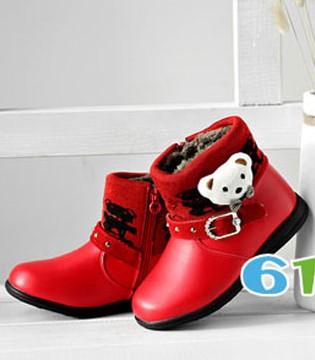 班妮宝贝2017新款短靴 给孩子秋冬打造高颜值