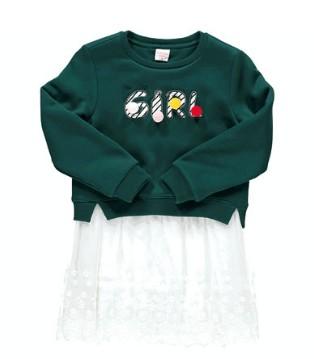 以纯童装拼接连衣裙 其实冬天也可以美美哒