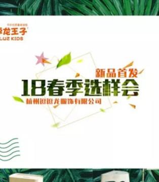 热烈祝贺逗龙王子童装2018春装选样会圆满落幕
