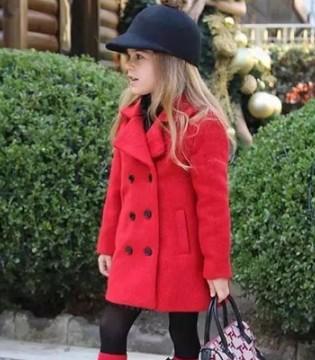 小女童冬季呢子大衣搭配技巧 十足的女神范