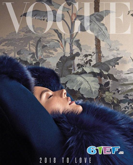 巴西超模AA登《VOGUE》葡萄牙版2018开年刊封面