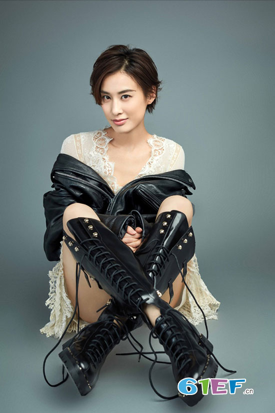 辣妈黄圣依个性写真大片曝光 帅气逼人又不失女人味