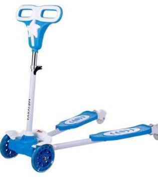 儿童三轮蛙式滑板车和普通儿童滑板车的区别