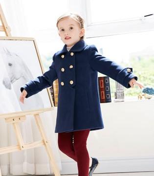 卡莎梦露品牌呢子外套 诠释孩子们的个性乐章