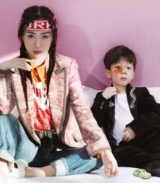 人气辣妈霍思燕与萌娃嗯哼一同登《YOHO!GIRL》封面
