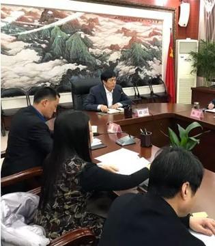 临潼区区长刘三民召开宏兴乳业企业发展推进会
