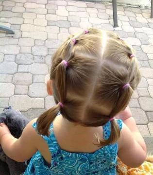 个性女宝宝扎发发型 妈妈们学起来