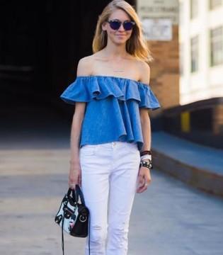 出街选择清凉蓝 视觉上就很降温