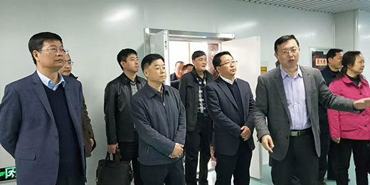 陕西省金融办领导一行莅临和氏乳业集团视察参观