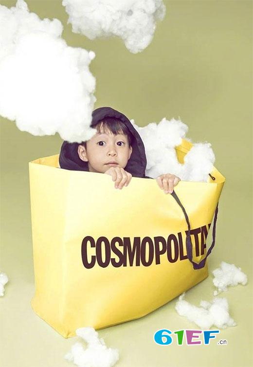 真会玩儿 姚晨携儿子小土豆登上《时髦Cosmo》双封面