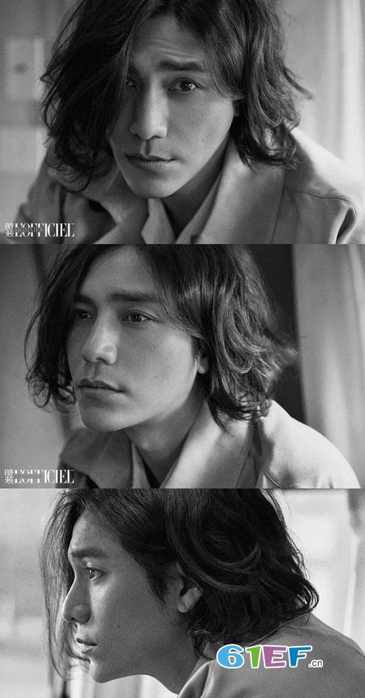 陈坤登上《时装男士杂志》封面 狂野长发造型实力抢镜