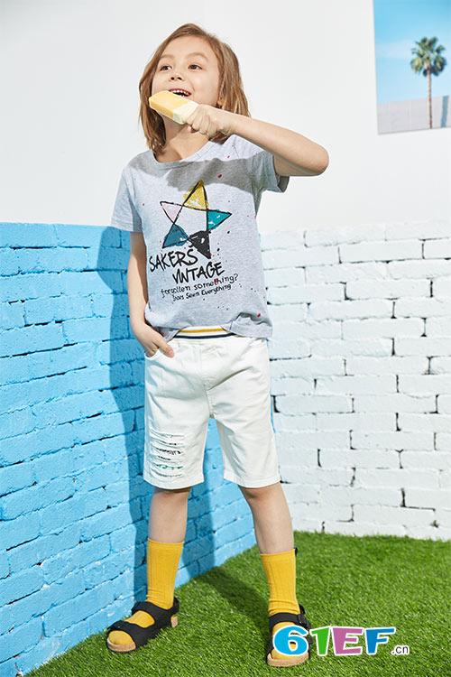 七彩T恤展真我 poipoilu泡泡噜品牌童装2018春夏系列