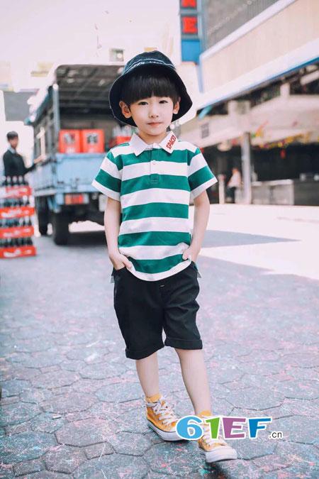 加菲A梦童装——夏季童装条纹色彩如何搭配?
