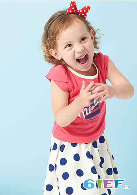 dishion的纯 儿童条纹波点裙如何搭配?