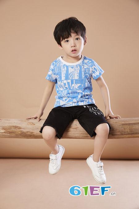 夏季儿童时尚休闲服饰搭配 贝布熊童装品牌