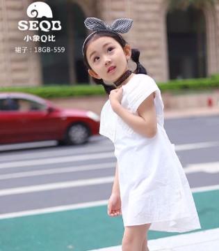 小象Q比童装品牌夏季时髦女童衬衫搭配技巧!