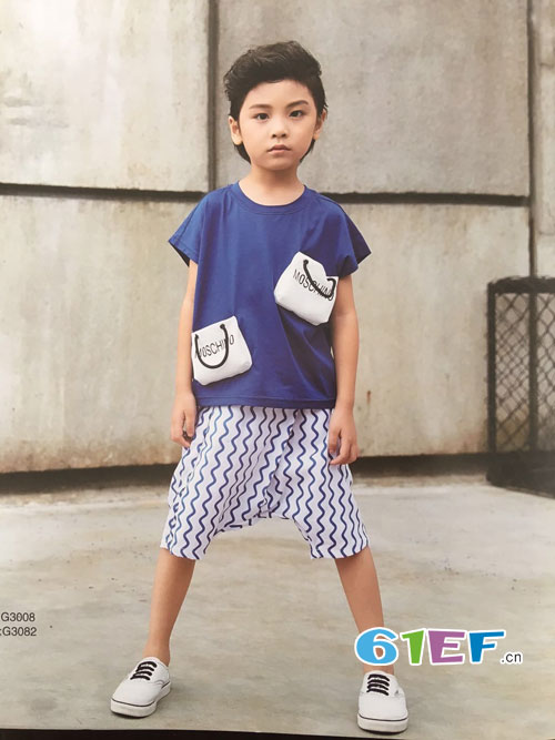 呗呗熊童装品牌夏季流行衬衫款式搭配!