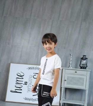 夏季儿童黑白经典服饰搭配――凡兜童装!