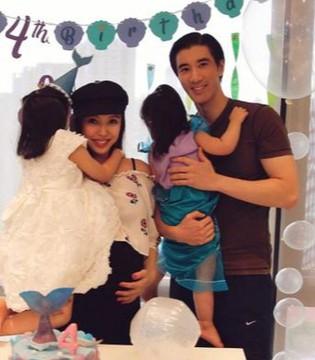 王力宏为大女儿庆生 一家四口幸福出镜