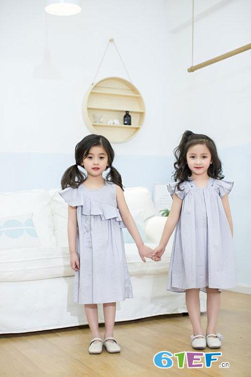 梦芭兔童装:7月暑假,让女孩子试试这几款碎花裙吧!